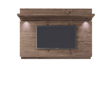 Manhattan Comfort Park 1.8 Floating Wall TV Panel with LED Lights in Nature