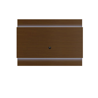 Manhattan Comfort Lincoln Floating Wall TV Panel 1.9 with LED Lights in Nut Brown