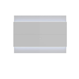 Manhattan Comfort Lincoln Floating Wall TV Panel 1.9 with LED Lights in White Gloss