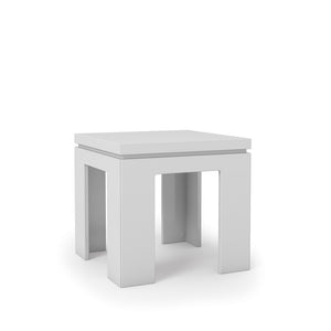 "Manhattan Comfort Bridge 1.0- 21"" Square Length Modern White Gloss Accent End Table"