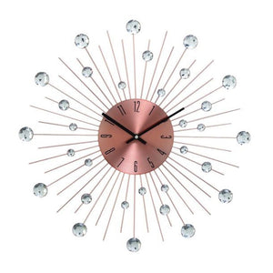 "Metal Acrl Copper Wall Clock 20""D"