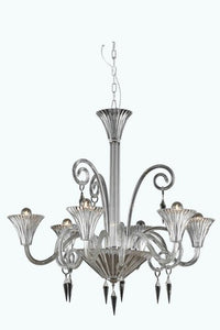 8806 Symphony Collection Hanging Fixture D32in H32in Lt:6 Clear Finish (Elegant Cut Crystal Clear)