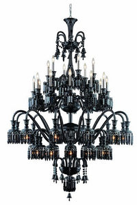 8942 Majestic Collection Large Hanging Fixture D54in H75in Lt:42 Black Finish (Elegant Cut Jet Black)