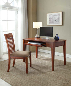 Acme Venetia 2Pc Pack Desk & Chair, Oak Finish