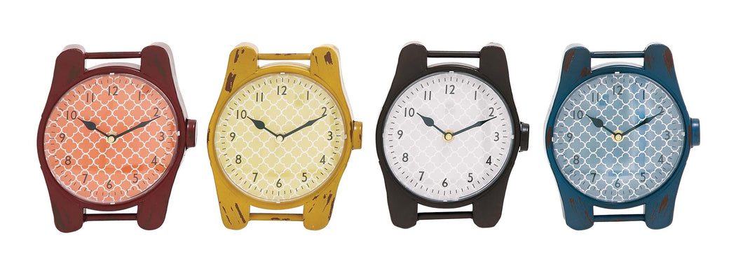 The Jolly Metal Desk Clock 4 Assorted