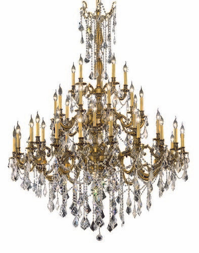 9245 Rosalia Collection Large Hanging Fixture D54in H66in Lt:30+10+5 French Gold Finish (Royal Cut Crystals)