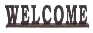 "Table Top ""Welcome"" With Vintage Feel And Long Lasting Sheen"