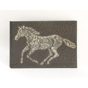 Antique Metal Horse Wall Decor