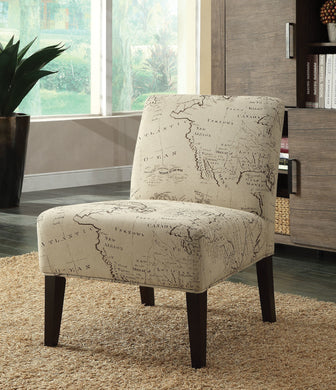 Acme Reece Accent Chair , Fabric & Espresso