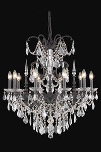 9710 Athena Collection Hanging Fixture D30in H31in Lt:10 Dark Bronze Finish (Swarovski Strass/Elements Crystals)