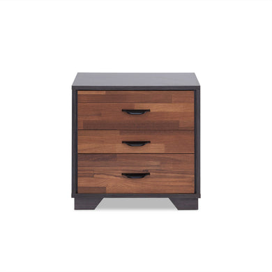 ACME Eloy Nightstand in Walnut & Espresso