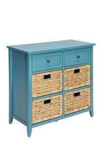 ACME Flavius 6 Drawers Accent Chest in Teal