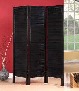 Acme Trudy II 3-Panel Wooden Screen, Black