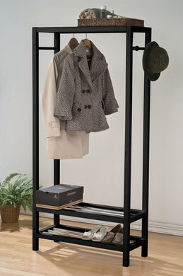 Acme Maeve Garment Rack, Black