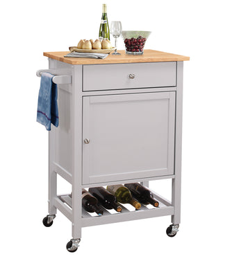 ACME Hoogzen Kitchen Cart in Natural and Gray