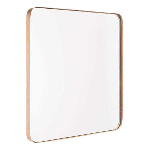 Square Metal Gold Mirror Gold