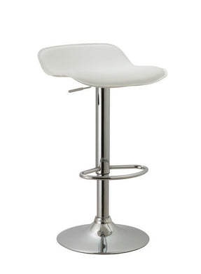 Countoured Contemporary Backless Swivel Adjustable Barstool