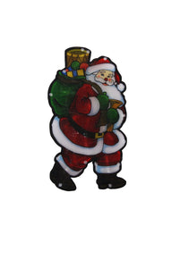 "10"" Santa Indoor Hanging Decor with 10 LED Lights / Each"