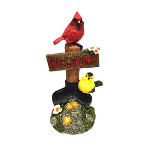 10 Inch Welcome Bird Statuary