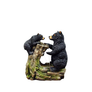 26 Inch Bear And Cub Fountain Without Light