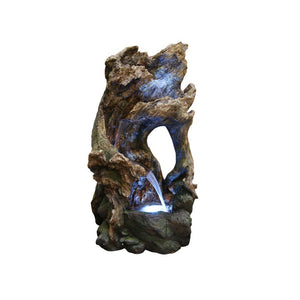 39 Inch Tree Trunk Fountain With Led Lights