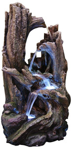 40 Inch Tree Trunk Fountain With Led Lights