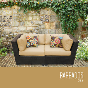 Barbados 2 Piece Outdoor Wicker Patio Furniture Set 02a