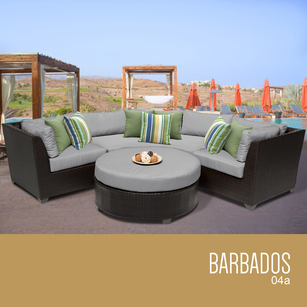 Barbados 4 Piece Outdoor Wicker Patio Furniture Set 04a