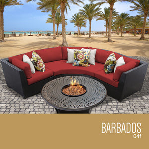 Barbados 4 Piece Outdoor Wicker Patio Furniture Set 04f