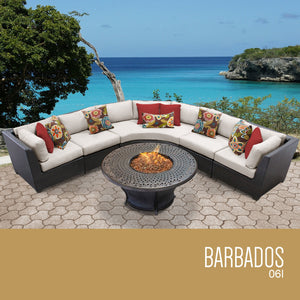 Barbados 6 Piece Outdoor Wicker Patio Furniture Set 06l