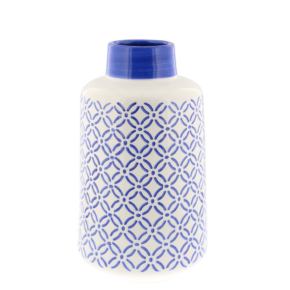 Ceramic Aristocratic Vase, Blue