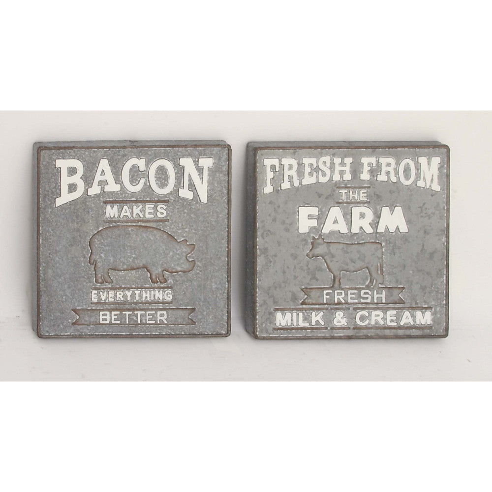 Bacon And Farm Fresh Sign,Assorted 2