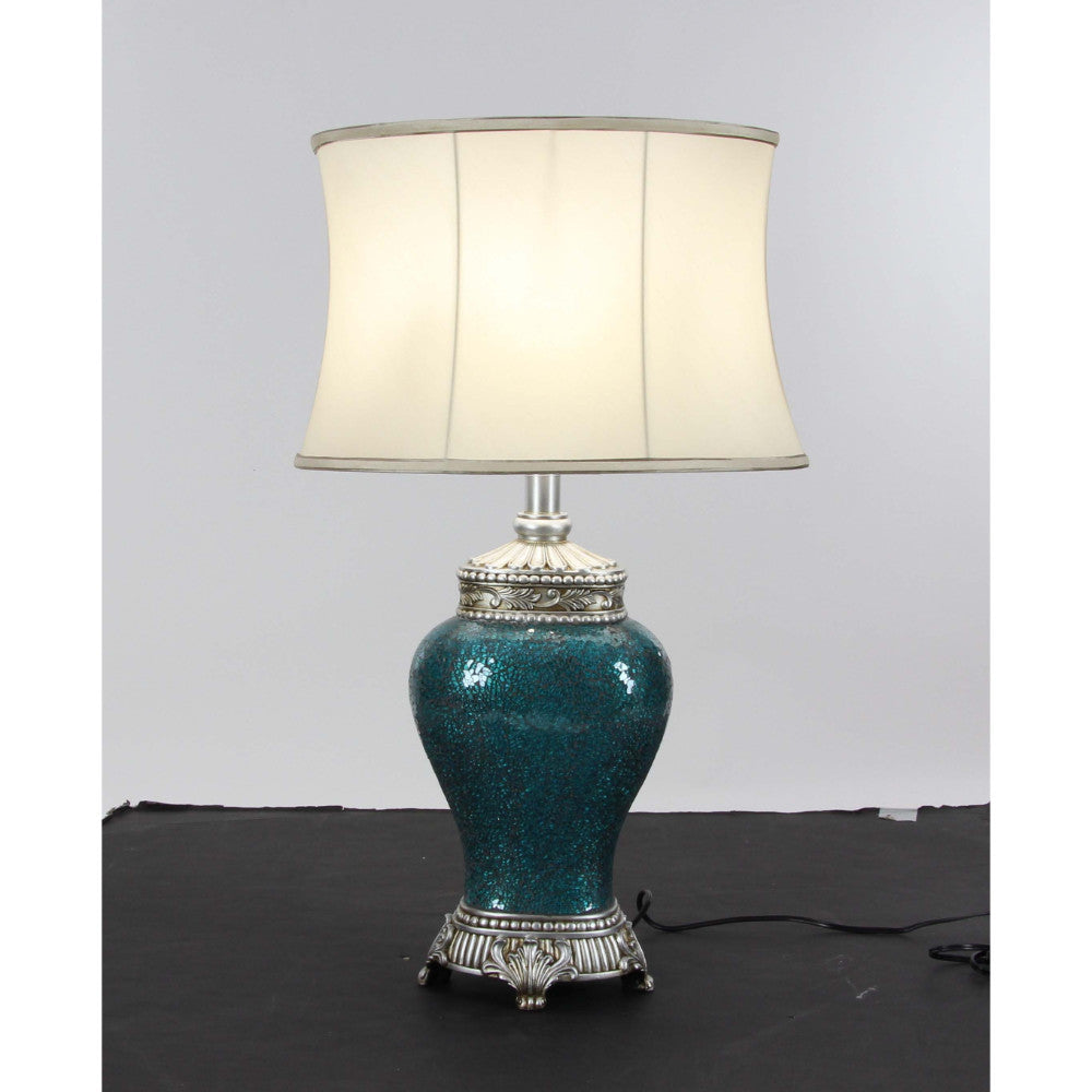 Artistic Polystone Mosaic Table Lamp