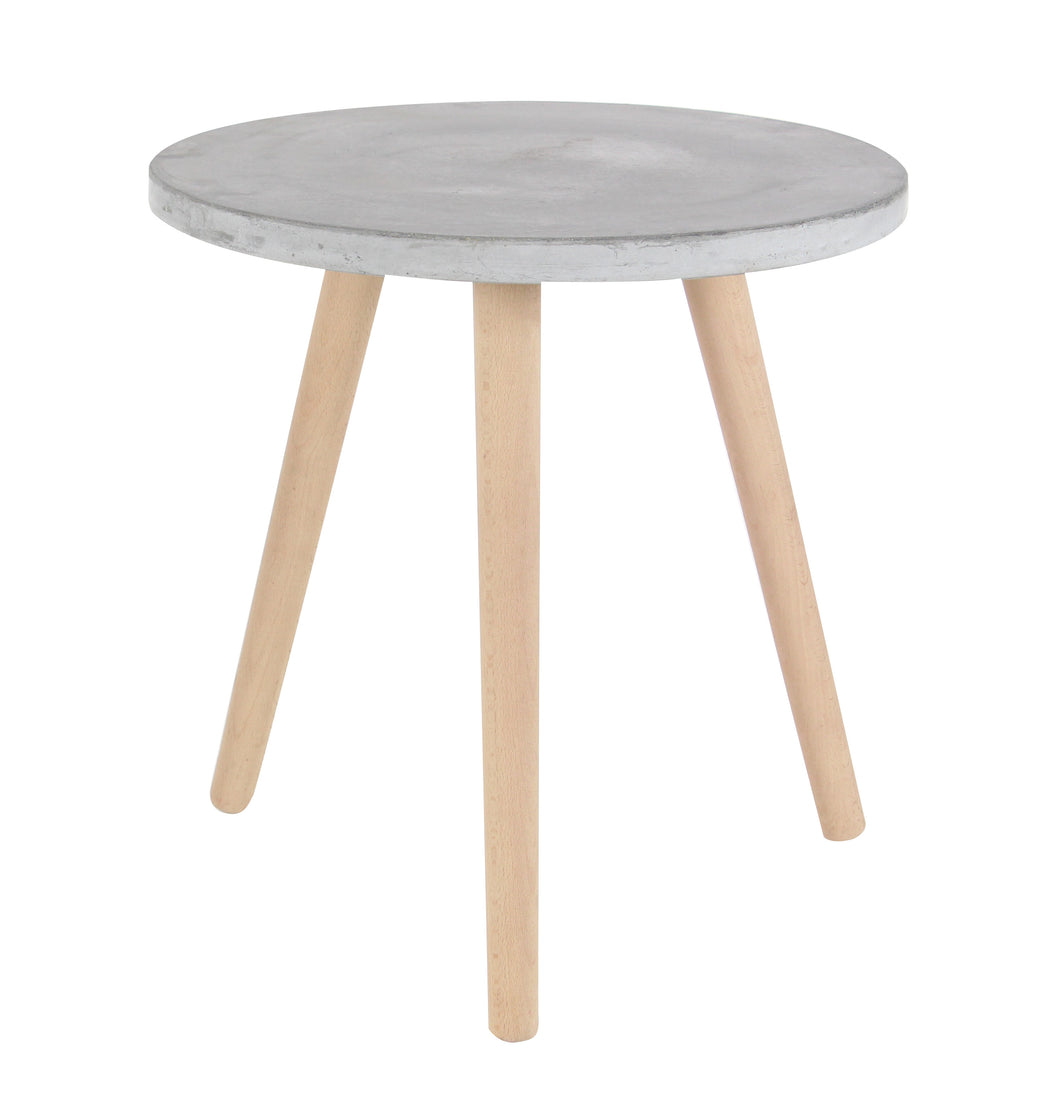 Well Made Beech Wood Table, Gray