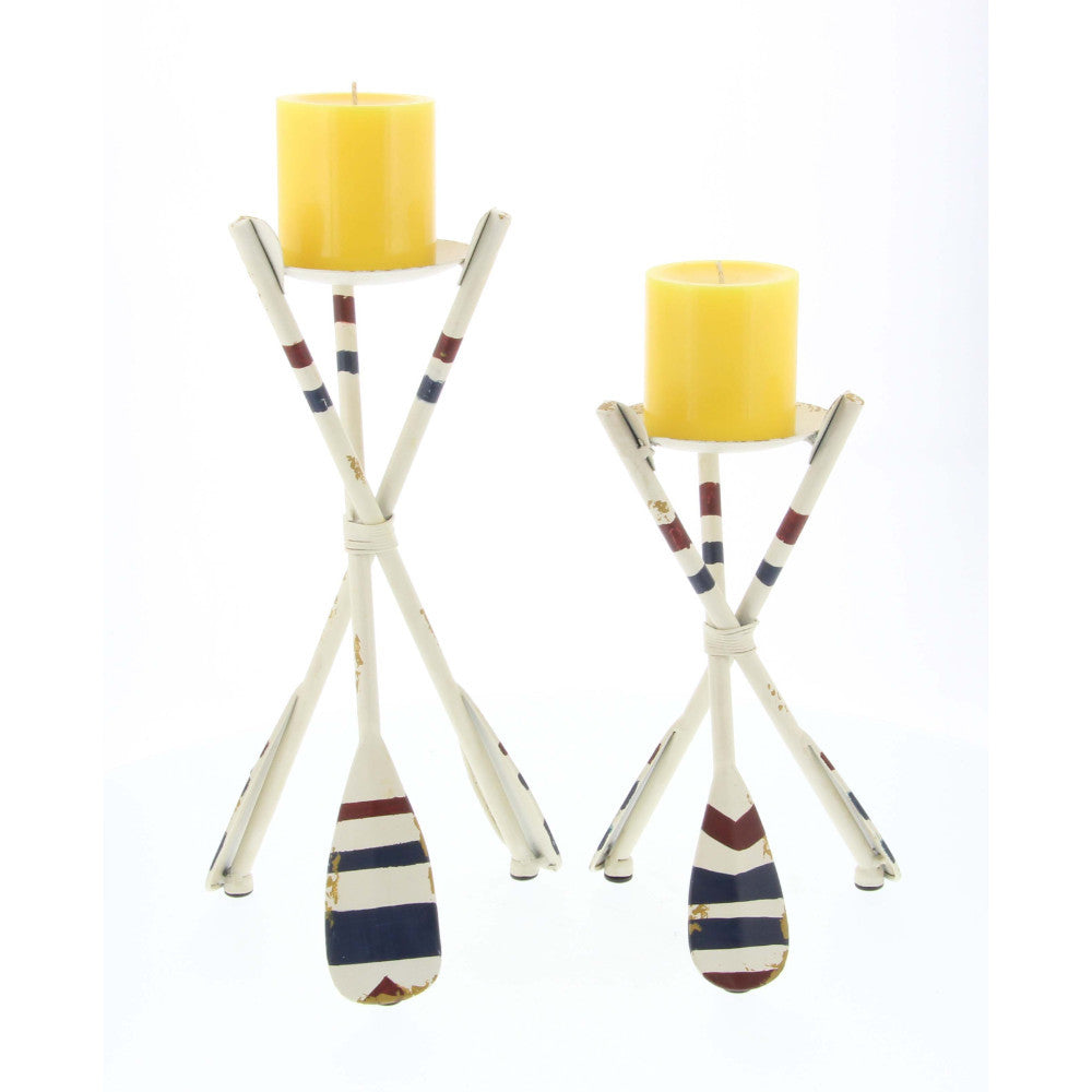 Outstanding Oar Candle Holder, Set Of 2, Multicolor
