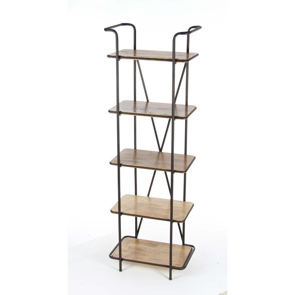 Admirable Metal Wood Shelf