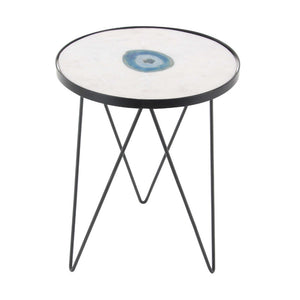 Angelic Marble Agate Accent Table
