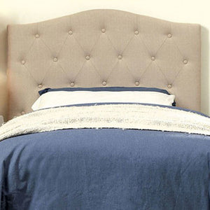 Alipaz Contemporary Twin Size Headboard, Ivory