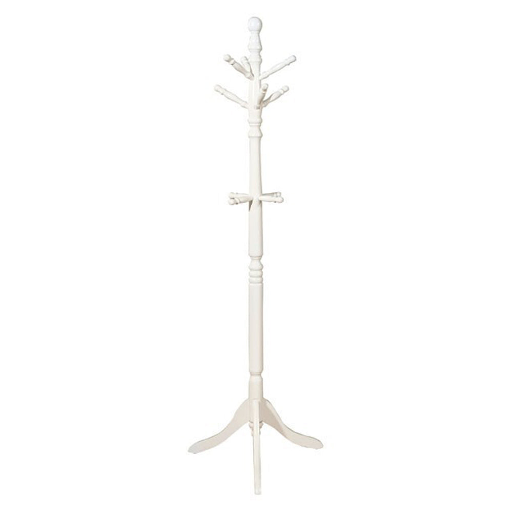 Prismo Transitional Style Coatrack, White