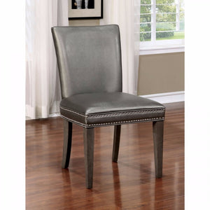 Sturgis Contemporary Style Side Chair, Dark Gray-Set Of 2