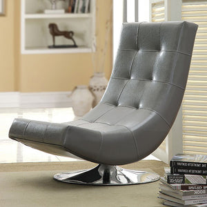 Trinidad Contemporary Swivel Chair, Gray