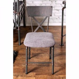 Olga I Industrial Design Chair, Antiqued Black