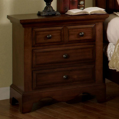Palm Coast Traditional Night Stand In Light Walnut Finish