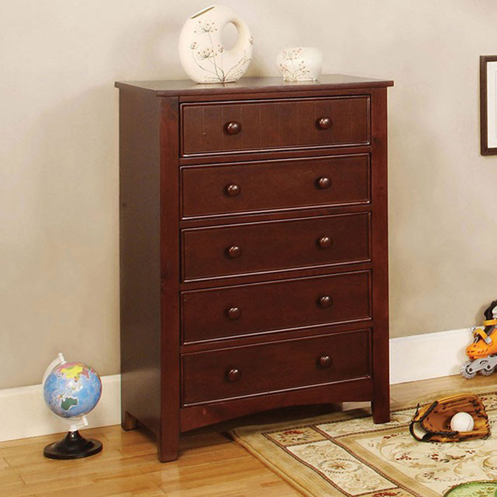 Omnus Transitional Chest In Cherry Finish
