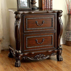 Castlewood Traditional Style Night Stand, Cherry