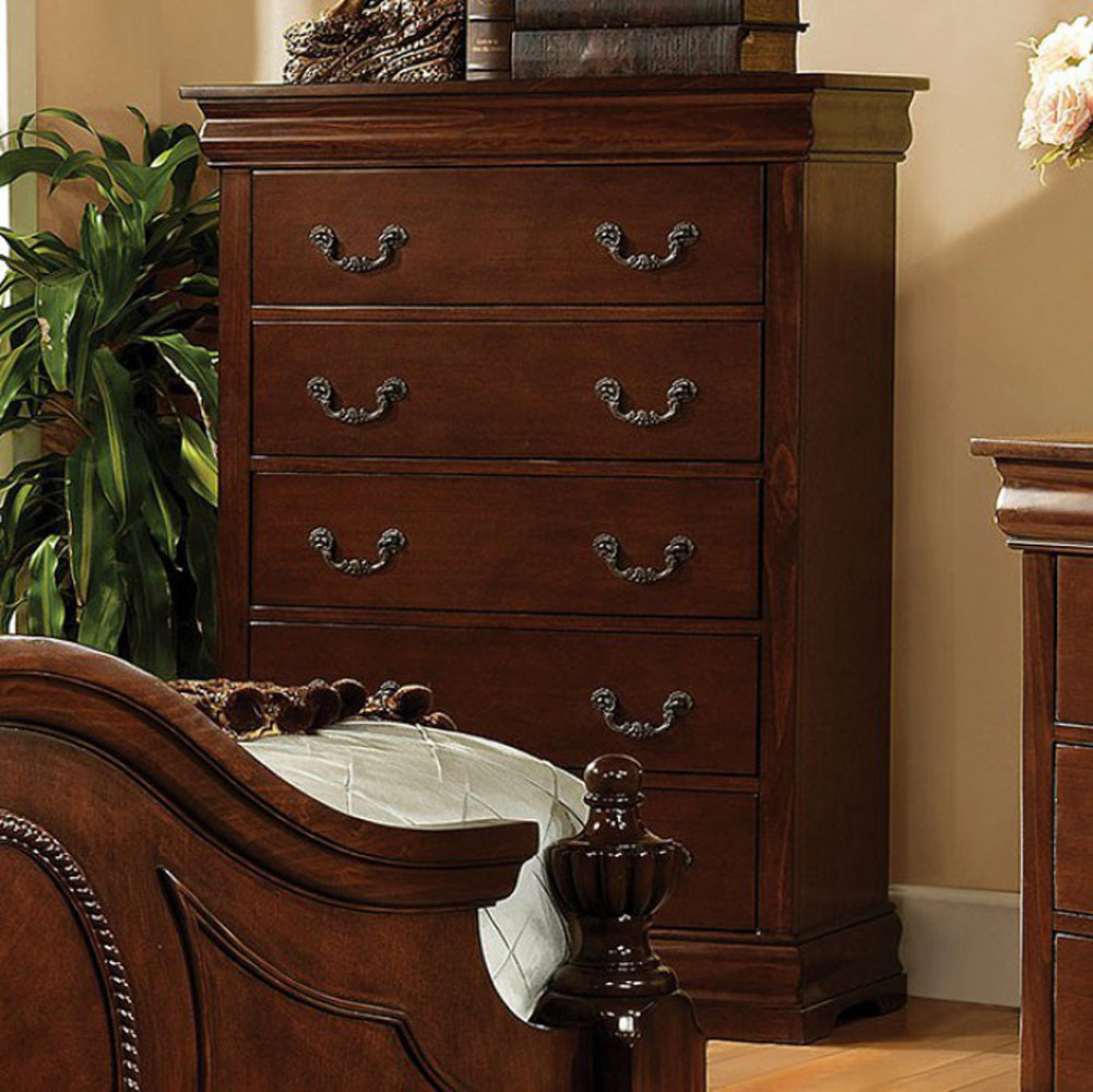 Velda II Traditional Chest, Brown Cherry