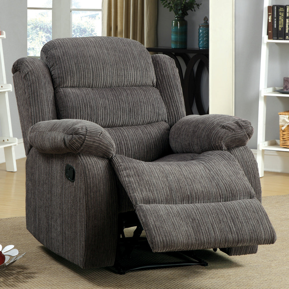 Millville Traditional Style Gray Recliner