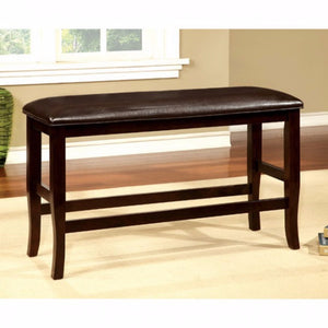 Woodside II Counter Height Espresso Finish Bench