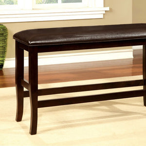Woodside II Transitional Bench, Espresso