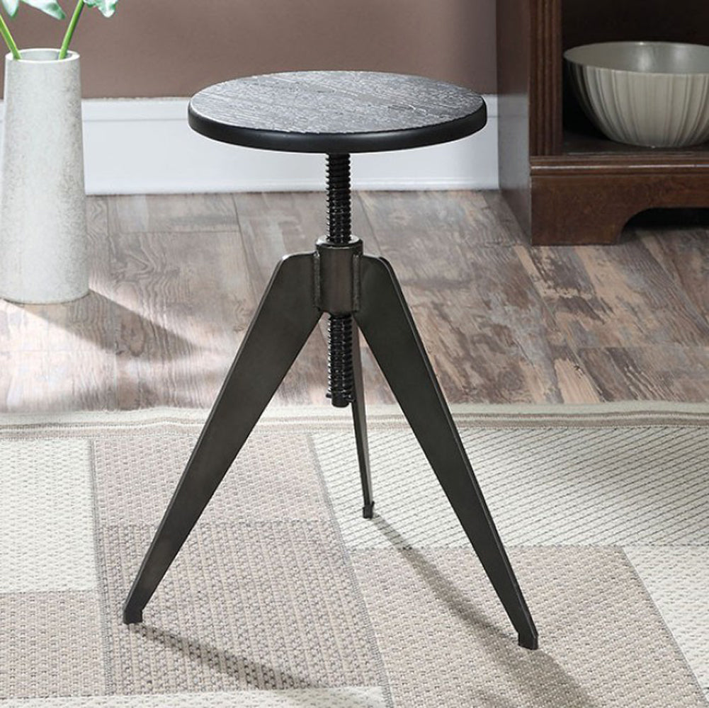 Mitzi Industrial Bar Stool , Gray And Black
